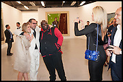 GEORGINA COHEN; JULIAN SCHNABEL; ADE; CLAIRE CAUDWELL, Frank Cohen and Nicolai Frahm host Julian Schnabel's 'Every Angel has a Dark Side,' private view and party. IN AID OF CHICKENSHED. Dairy Art Centre, 7a Wakefield Street, London. 24 APRIL 2014