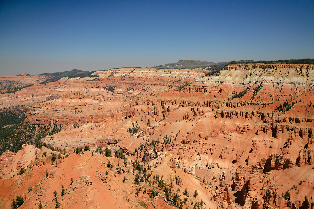 The intriciate rock formations making up Cedar Breaks in Utah on a hot summer afternoon.