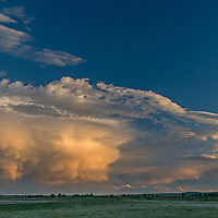 A thunderstorm rolls over the  American Prairie Reserve in Phillips County, Montana.