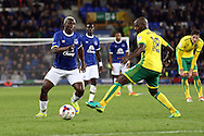 Youssuf Mulumbu of Norwich City looks to tackle Arouna Kone of Everton. EFL Cup, 3rd round match, Everton v Norwich city at Goodison Park in Liverpool, Merseyside on Tuesday 20th September 2016.<br /> pic by Chris Stading, Andrew Orchard sports photography.