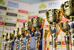 Podelitev na drzavnem prvenstvu veteranskih dvojic v tenisu, 24. marec 2018, BTC Millenium center, Ljubljana, Slovenia. Photo by Vid Ponikvar / Sportida