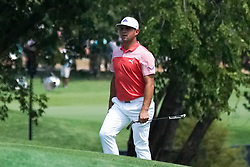August 10, 2018 - St. Louis, Missouri, United States - Gary Woodland approaches the 9th green during the second round of the 100th PGA Championship at Bellerive Country Club. (Credit Image: © Debby Wong via ZUMA Wire)
