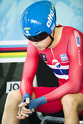 September 18, 2017 - Bergen, NORWAY - 170918  Tobias S. Foss of Norway in the warm up zone ahead of the Men Under 23 Individual Time Trial on September 18, 2017 in Bergen..Photo: Jon Olav Nesvold / BILDBYRN / kod JE / 160020 (Credit Image: © Jon Olav Nesvold/Bildbyran via ZUMA Wire)