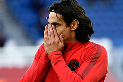 October 3, 2018 - Paris, Ile-de-France, France - Edison Roberto Cavani #9 of PSG during the UEFA Champions' League football match Paris Saint Germain (PSG) against Red Star Belgrade at the Parc des Princes stadium in Paris on October 3, 2018. (Credit Image: © Julien Mattia/NurPhoto/ZUMA Press)