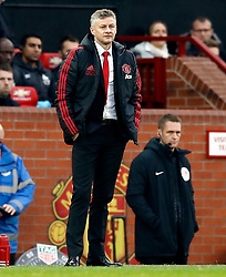 Manchester United interim manager Ole Gunnar Solskjaer during the Premier League match at Old Trafford, Manchester.