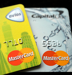 File photo dated 03/09/13 of two Mastercard credit cards. A proposed £14 billion class action lawsuit against Mastercard will not proceed after a tribunal ruled the case cannot go to trial.