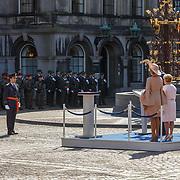 NLD/Den Haag/20180831 - Koninklijke Willems orde voor vlieger Roy de Ruiter, opkomst van Koning Willem - Alexander, Koningin Maxima