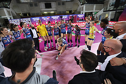De Kruijf Robin, Wolosz Joanna, Caravello Lara, PAOLA EGONU and MONICA DE GENNARO <br /> MEGABOX VALLEFOGLIA - EUROSPIN FORD SARA PINEROLO<br /> PALLAVOLO CAMPIONATO ITALIANO VOLLEY SERIE A2-F 2020-2021<br /> FINALE PROMOZIONE GARA 2<br /> MONTECCHIO (PU) 29-05-2021<br /> FOTO FILIPPO RUBIN / LVF