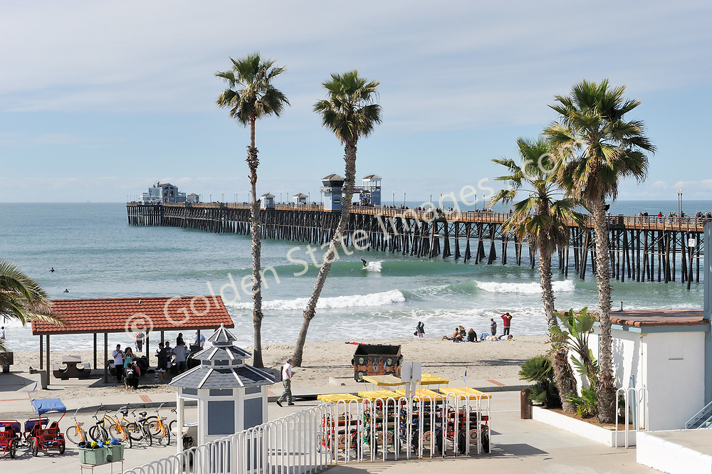The original pier was built in 1888 and destroyed by winter storms in 1890. Its been rebuilt a total of five times since.<br /> <br /> At 1,954 feet in length, its the longest wooden pier on the west coast.