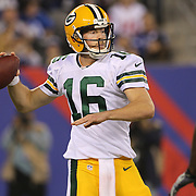 Quarterback Scott Tolzien, Green Bay Packers, in action during the New York Giants Vs Green Bay Packers, NFL American Football match at MetLife Stadium, East Rutherford, New Jersey, USA. 17th November 2013. Photo Tim Clayton