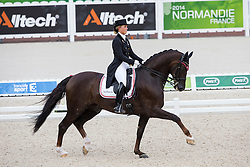 Anna Kasprzak, (DEN), Donnperignon - Grand Prix Team Competition Dressage - Alltech FEI World Equestrian Games™ 2014 - Normandy, France.<br /> © Hippo Foto Team - Leanjo de Koster<br /> 25/06/14