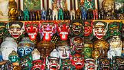 Balinese masks at Tanah Lot, Bali, Indonesia