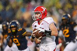 Sep 8, 2018; Morgantown, WV, USA; Youngstown State Penguins quarterback Montgomery VanGorder (12) runs the ball during the second quarter against the West Virginia Mountaineers at Mountaineer Field at Milan Puskar Stadium. Mandatory Credit: Ben Queen-USA TODAY Sports