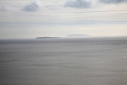 Flat Holm and Steep Holm in the Bristol Channel, viewed from Penarth, South Wales