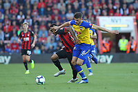 Football - 2018 / 2019 Premier League - AFC Bournemouth vs. Southampton<br /> <br /> Southampton's Wesley Hoedt gets to grips with Bournemouth's Joshua King during the Premier League match at the Vitality Stadium (Dean Court) Bournemouth<br /> <br /> COLORSPORT/SHAUN BOGGUST