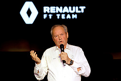 President of Renault Sport Racing Jerome Stoll speaks during the Renault F1 Team 2019 season launch at Whiteways Technical Centre, Oxford.