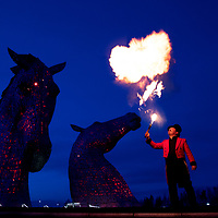 Fire & Light 2020: Visions at The Helix, Falkirk<br /><br />Picture by Graeme Hart.<br />Copyright Perthshire Picture Agency<br />Tel: 01738 623350  Mobile: 07990 594431