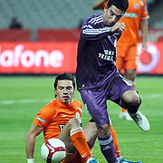Galatasaray's Arda TURAN (R) during their Turkish soccer superleague match Istanbul BBSpor between Galatasaray at the Ataturk Olympic stadium in Istanbul Turkey on Saturday 01 May 2010. Photo by TURKPIX