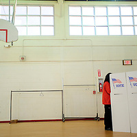 020513  Adron Gardner<br /> <br /> Cibola county voters cast their ballots at the south campus gym at Grants High School in Grants Tuesday.
