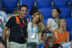 13-06-2012 VOETBAL: UEFA EURO 2012 DAY 6: POLEN OEKRAINE<br /> Sylvie van der Vaart during the UEFA EURO 2012 group B match between Netherlands en Germany at Metalist Stadium, Charkov, UKR<br /> ***NETHERLANDS ONLY***<br /> ©2012-FotoHoogendoorn.nl