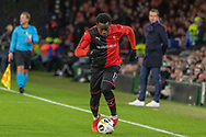 Christ-Emmanuel Maouassa (17) on the ball during the Europa League match between Celtic and Rennes at Celtic Park, Glasgow, Scotland on 28 November 2019.
