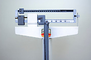 Medical scale at a dietitians office