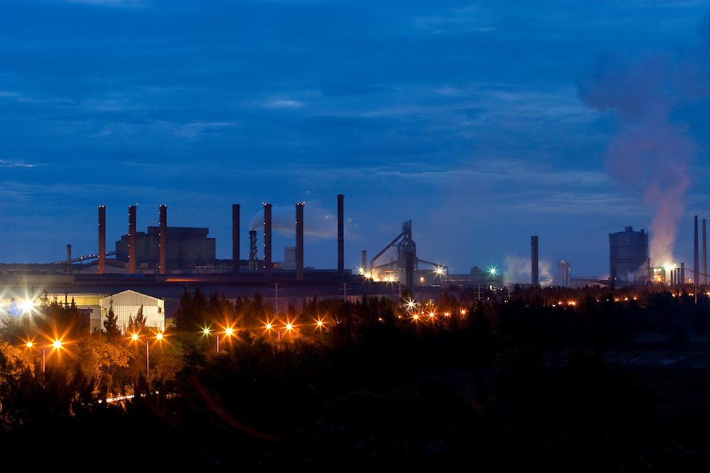 Ouro Branco_MG, Brasil...Vista panoramica de uma siderurgica em Ouro Branco...The panoramic view of a steel industry in Ouro Branco...Foto: LEO DRUMOND / NITRO