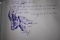 Guestbook drawing by Grzegorz Lesniewski, Hohe Tauern National Park, Carinthia, Austria