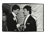 Tim Murphy and David Cameron. Valentine Ball. Oxford Union. 1987