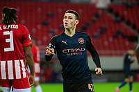 PIRAEUS, GREECE - NOVEMBER 25: Phil Foden of Manchester City, celebrates his goal during the UEFA Champions League Group C stage match between Olympiacos FC and Manchester City at Karaiskakis Stadium on November 25, 2020 in Piraeus, Greece. (Photo by MB Media)