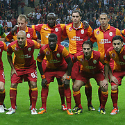 Galatasaray's group team during their UEFA Champions League Group H matchday 3 soccer match Galatasaray between CFR Cluj at the TT Arena Ali Sami Yen Spor Kompleksi in Istanbul, Turkey on Tuesday 23 October 2012. Photo by Aykut AKICI/TURKPIX