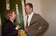 Simon Patterson and Johnny Shand Kidd. Timothy Taylor new gallery opening, Dering  St. 20 May 2003. © Copyright Photograph by Dafydd Jones 66 Stockwell Park Rd. London SW9 0DA Tel 020 7733 0108 www.dafjones.com