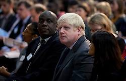 © Licensed to London News Pictures. 19/10/2012. LONDON, UK. Boris Johnson, the Mayor of London, is seen at Pimlico Academy in London today (19/12/12) as he waits to deliver a talk on making London a world leader in Education. Photo credit: Matt Cetti-Roberts/LNP