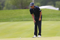 June 22, 2018 - Cromwell, Connecticut, United States - Matt Jones lines up a putt on the 8th green during the second round of the Travelers Championship at TPC River Highlands. (Credit Image: © Debby Wong via ZUMA Wire)