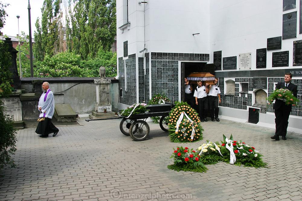 Funeral of Henryk Nowicki in Powazek Cemetery, Warsaw Poland.