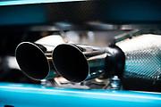 June 28 - July 1, 2018: Lamborghini Super Trofeo Watkins Glen. 2 Ryan Hardwick, Dream Racing, Motorsport, Lamborghini Atlanta, Lamborghini Huracan Super Trofeo EVO exhaust detail