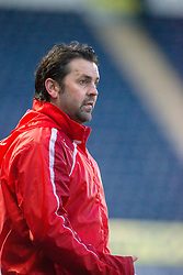 Falkirk's manager Paul Hartley. Falkirk 3 v 1 Inverness Caledonian Thistle, Scottish Championship game played 27/1/2018 at The Falkirk Stadium.