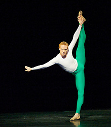 A stock image of a male ballet dancer in the wake of the controversy caused by Good Morning America presenter Lara Spencer who has cruelly mocked Prince George taking ballet lessons at his school in Battersea.<br /> <br /> <br /> Royal Ballet <br /> Triple Bill <br /> at The Royal Opera House, Covent Garden, London, Great Britain <br /> 7th February 2014 <br /> <br /> <br /> Steven McRae<br /> <br /> <br /> <br /> <br /> <br /> Photograph by Elliott Franks