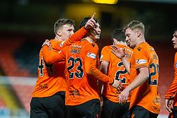 Dundee United's Ian Harkes oele scoring their fourth goal. Dundee United 4 v 0 Ayr United, Scottish Championship game played 21/12/2019 at Dundee United's stadium Tannadice Park.