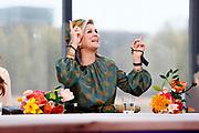 EINDHOVEN, 27-04-2021, High Tech Campus<br /> <br /> Koningin Maxima tijdens Koningsdag 2021 op de High Tech Campus in Eindhoven Foto: Brunopress/POOL/Koen van Weel<br /> <br /> Queen Maxima during King's Day 2021 at Eindhoven