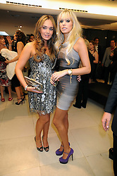 Left to right, TAMARA ECCLESTONE and PETRA ECCLESTONE at the Form Menswear launch at Harrod's, London on 2nd October 2008.