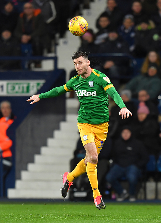 Preston North End's Andrew Hughes <br /> <br /> Photographer Dave Howarth/CameraSport<br /> <br /> The EFL Sky Bet Championship - West Bromwich Albion v Preston North End - Tuesday 25th February 2020 - The Hawthorns - West Bromwich<br /> <br /> World Copyright © 2020 CameraSport. All rights reserved. 43 Linden Ave. Countesthorpe. Leicester. England. LE8 5PG - Tel: +44 (0) 116 277 4147 - admin@camerasport.com - www.camerasport.com