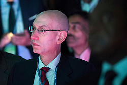 NEW YORK, NEW YORK - SEPTEMBER 21: National Basketball Association (NBA) commissioner Adam Silver listens as U.S. President Barack Obama speaks at the U.S.-Africa Business Forum at the Plaza Hotel, September 21, 2016 in New York City. The forum is focused on trade and investment opportunities on the African continent for African heads of government and American business leaders. Photo by Drew Angerer/Pool/ABACAPRESS.COM