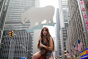 People's Climate March, New York, NY, on Sunday, Sept. 21, 2014. <br /> <br /> Photograph by Andrew Hinderaker