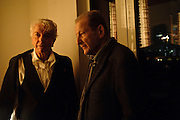 NICKY HASLAM; LUCIAN FREUD, Launch of Nicky Haslam's book Redeeming Features. Aqua Nueva. 5th floor. 240 Regent St. London W1.  5 November 2009.  *** Local Caption *** -DO NOT ARCHIVE-© Copyright Photograph by Dafydd Jones. 248 Clapham Rd. London SW9 0PZ. Tel 0207 820 0771. www.dafjones.com.<br /> NICKY HASLAM; LUCIAN FREUD, Launch of Nicky Haslam's book Redeeming Features. Aqua Nueva. 5th floor. 240 Regent St. London W1.  5 November 2009.