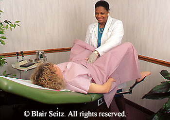 Medial, Doctor, Physician at Work African American Female Physicians Performs Gynecological Exam Gynecologist, Gynecology