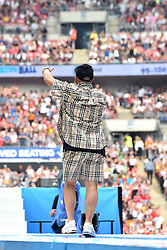 Jax Jones during Capital's Summertime Ball with Vodafone at Wembley Stadium, London. This summer's hottest artists performed live for 80,000 Capital listeners at Wembley Stadium at the UK's biggest summer party. Performers included Camila Cabello, Shawn Mendes, Rita Ora, Charlie Puth, Jess Glyne, Craig David, Anne-Marie, Rudimental, Sean Paul, Clean Bandit, James Arthur, Sigala, Years & Years, Jax Jones, Raye, Jonas Blue, Mabel, Stefflon Don, Yungen and G-Eazy