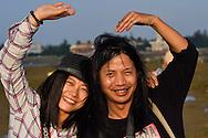 Yan Xiu Yan with photographer Deng, Shi Ma Jiao harbour, Guangdong province, China