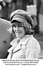 CAMILLA PARKER BOWLES at Sandown Park Racecourse in March 1974.<br /> PUBLICATION FEE MUST BE AGREED PRIOR TO USE<br /> © Desmond O'Neill Features:- + 44 (0) 7092 235465<br /> www.donfeatures.com   info@donfeatures.com