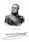 Jacques E J A Macdonald (1765-1840) Duc de Tarrente. French soldier, son of Scottish Jacobite schoolmaster. Lithograph c1820.